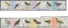 Samoa SG280-9b 1967-9 Definitive Decimal Currency Birds set of 12